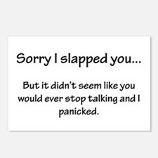 Sorry I slapped you... Postcards (Package of 8)