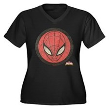 Spider-Girl Women's Plus Size V-Neck Dark T-Shirt