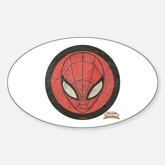 Spider-Girl Icon Vintage Sticker (Oval)