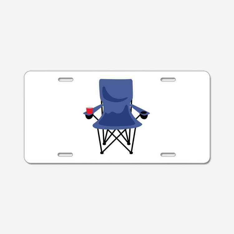 Camping Chair Aluminum License Plate