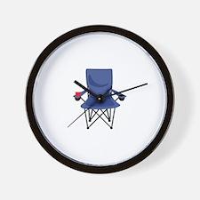Camping Chair Wall Clock