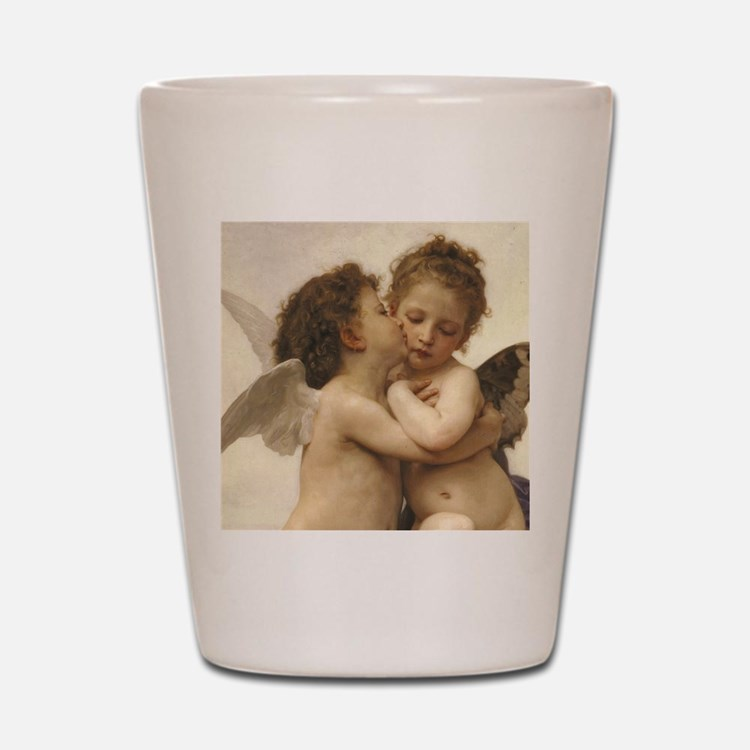 Exquisite First Kiss Angels Shot Glass