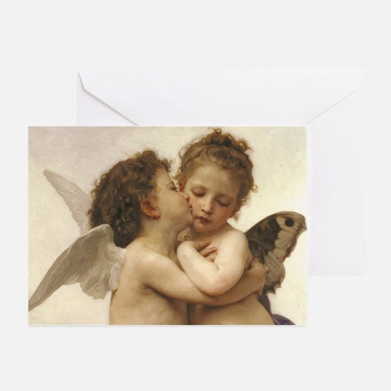 Exquisite First Kiss Angels Greeting Cards