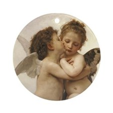 Exquisite First Kiss Angels Ornament (Round)