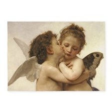 Exquisite First Kiss Angels 5'x7'Area Rug