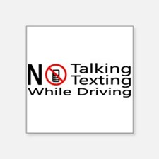 """Unique Driving while on phone Square Sticker 3"""" x 3"""""""