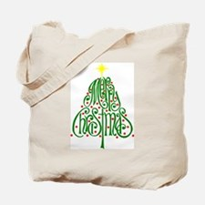 Merry Christmas Tree Tote Bag