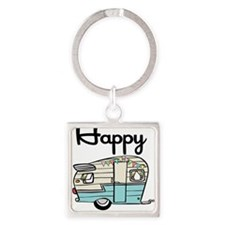 Cute Vintage trailer Square Keychain