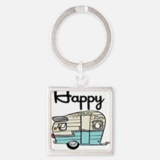 Funny Camper Square Keychain