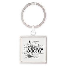Soccer Word Cloud Keychains