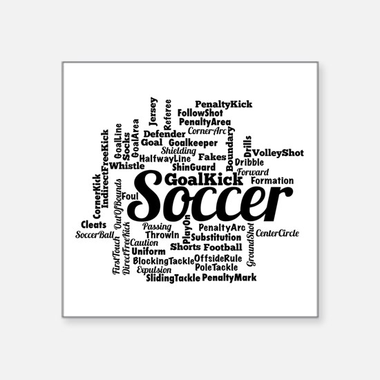 Soccer Word Cloud Sticker