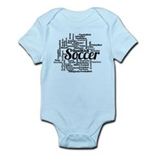 Soccer Word Cloud Body Suit
