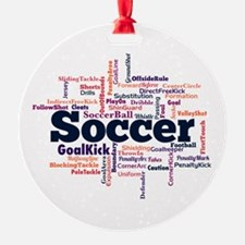 Soccer Word Cloud Ornament