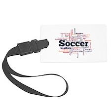 Soccer Word Cloud Luggage Tag
