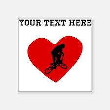 BMX Biker Heart (Custom) Sticker