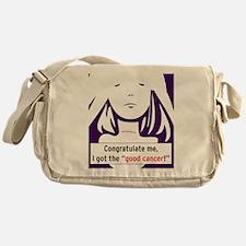 the good cancer woman Messenger Bag