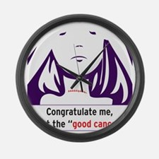 the good cancer woman Large Wall Clock