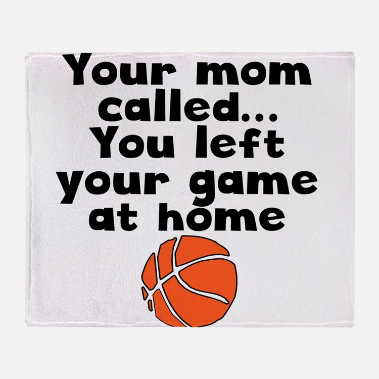 You Left Your Game At Home Throw Blanket