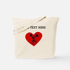 Cheerleader Heart (Custom) Tote Bag