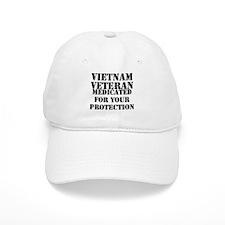 Vietnam Veteran Medicated For Your Protection Baseball Cap