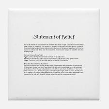 Statement of Belief Tile