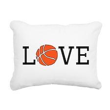 Basketball Love Rectangular Canvas Pillow