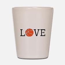 Basketball Love Shot Glass