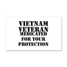 Vietnam Veteran Medicated For Y Car Magnet 20 x 12