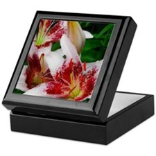 Funny Red lily Keepsake Box