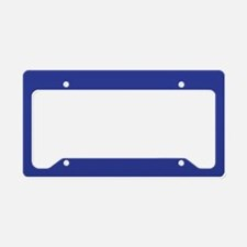 Dark Blue Solid Color License Plate Holder