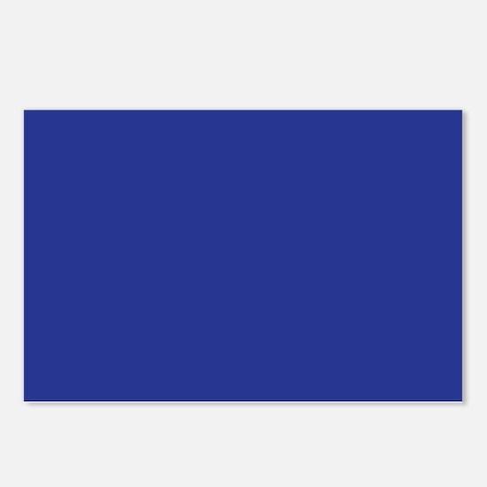 Dark Blue Solid Color Postcards (Package of 8)