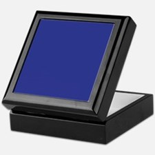 Dark Blue Solid Color Keepsake Box