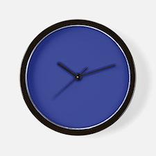 Dark Blue Solid Color Wall Clock