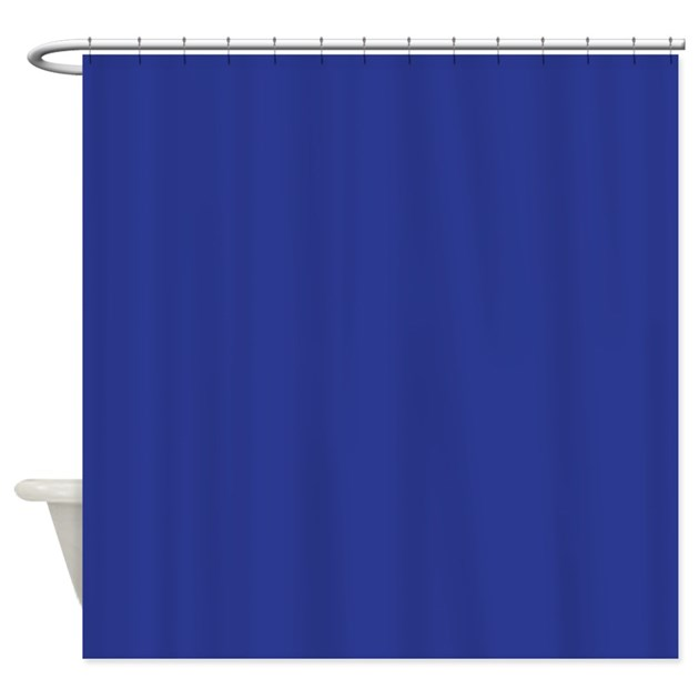 Dark Blue Solid Color Shower Curtain By BeautifulBed
