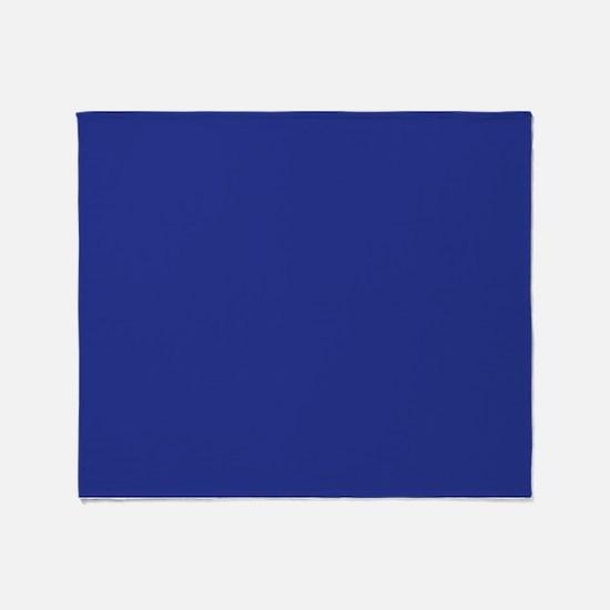 Dark Blue Solid Color Throw Blanket