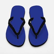 Dark Blue Solid Color Flip Flops