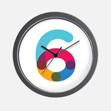 Color6 Wall Clock
