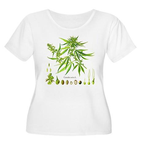 Cannabis Sativa L. Women's Plus Size Scoop Neck T-