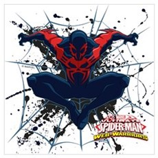 Spider-Man 2099 Web Wall Art Canvas Art
