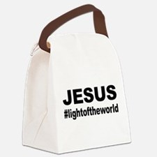 Jesus #lightoftheworld Canvas Lunch Bag
