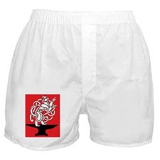 becca and matt_red Boxer Shorts