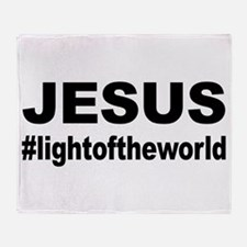 Jesus #lightoftheworld Throw Blanket