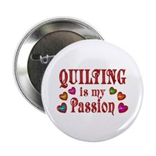"Quilting Passion 2.25"" Button"