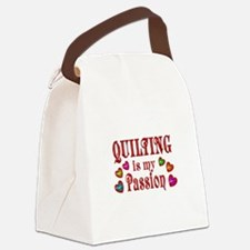 Quilting Passion Canvas Lunch Bag