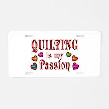 Quilting Passion Aluminum License Plate