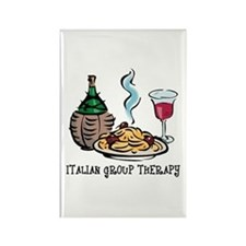 Italian Group Therapy Rectangle Magnet