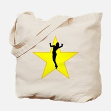 Volleyball Serve Silhouette Star Tote Bag