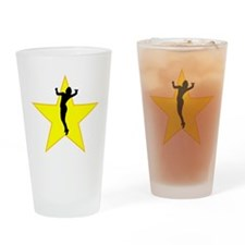 Volleyball Serve Silhouette Star Drinking Glass
