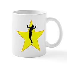 Volleyball Serve Silhouette Star Mugs