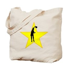 Volleyball Spike Silhouette Star Tote Bag